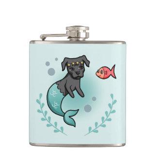 Mermaid Pit Bull Hip Flask