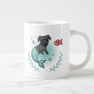 Mermaid Pit Bull Large Coffee Mug