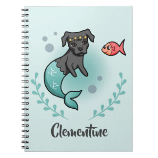 Mermaid Pit Bull Notebook