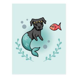 Mermaid Pit Bull Postcard