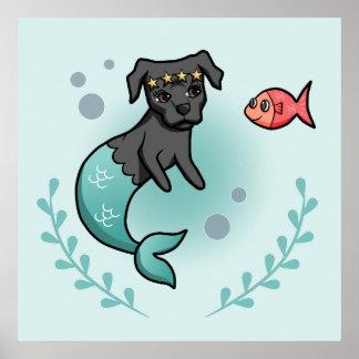 Mermaid Pit Bull Poster