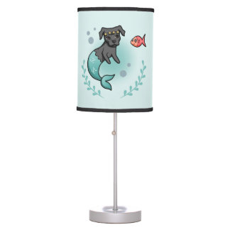 Mermaid Pit Bull Table Lamp