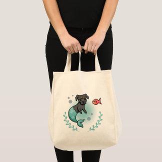 Mermaid Pit Bull Tote Bag