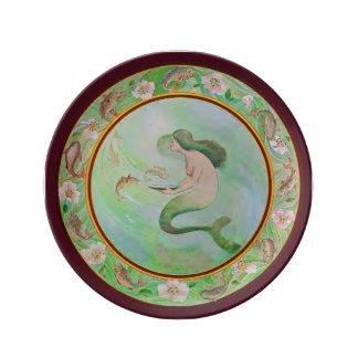 Mermaid Porcelain Plate