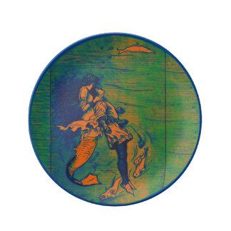 Mermaid Porcelain Plate Deep Sea Rescue