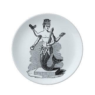 Mermaid Porcelain Plate King