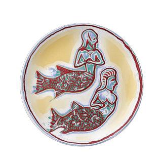 Mermaid Porcelain Plate with Merman