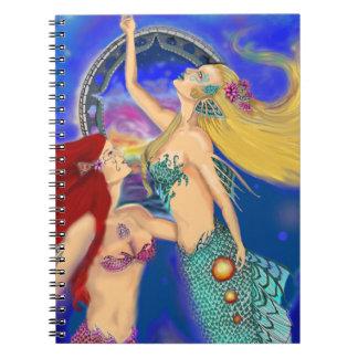 Mermaid Portal Digital Sunset Notebook