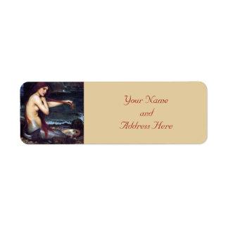 Mermaid Pre-Raphaelite  Return Address Labels