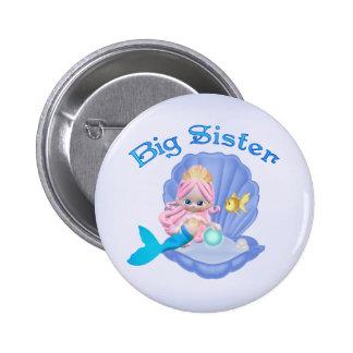 Mermaid Princess Big Sister 2 Inch Round Button