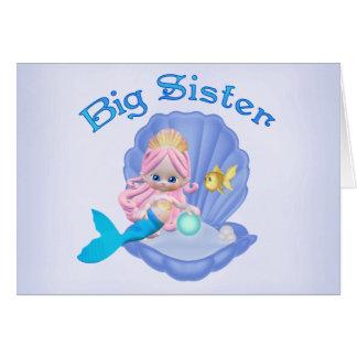 Mermaid Princess Big Sister Note Card