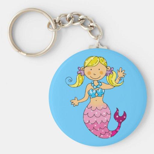 mermaid princess keychain