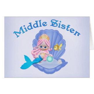 Mermaid Princess Middle Sister Note Card