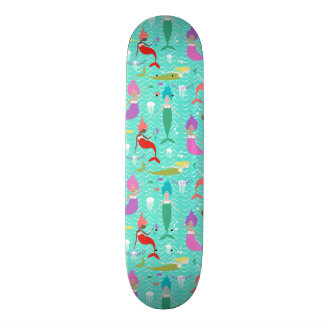 Mermaid Princess Skateboard in Teal/Multi