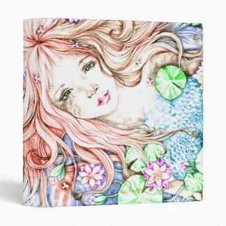 Mermaid Princess Watercolor Vinyl Binders