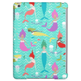 Mermaid Printed Ipod Air case in Teal/Multi iPad Air Case