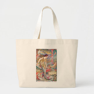Mermaid Queen of the Fishes Large Tote Bag