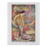 Mermaid Queen of the Fishes Poster
