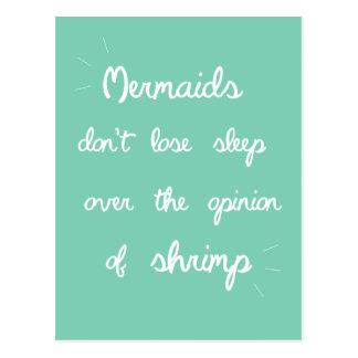 Mermaid Quote Postcard