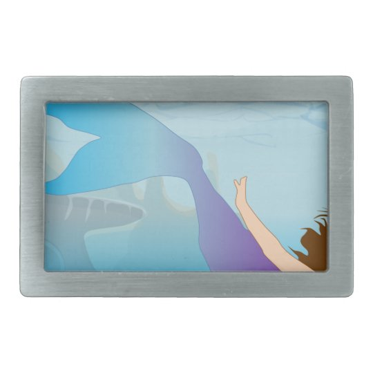 Mermaid Rectangular Belt Buckles
