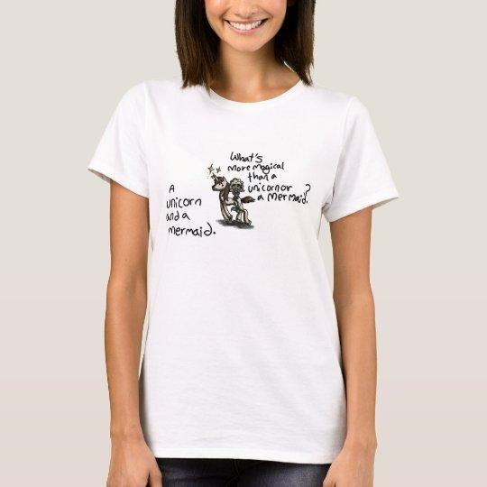 Mermaid riding a unicorn T-Shirt