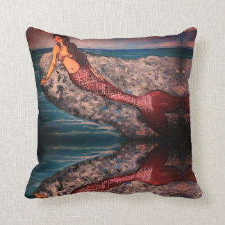 Mermaid Rock Throw Pillow