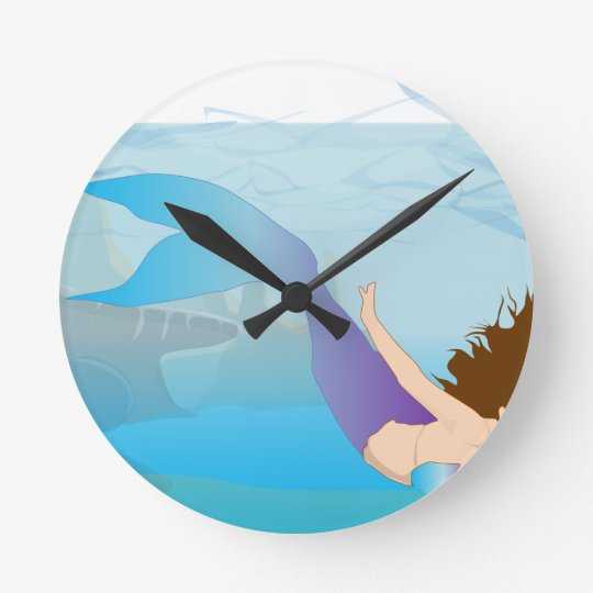 Mermaid Round Clock