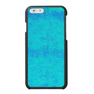 Mermaid Scale Neon Blue Vegan Leather Incipio Watson™ iPhone 6 Wallet Case