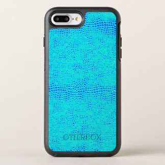 Mermaid Scale Neon Blue Vegan Leather OtterBox Symmetry iPhone 7 Plus Case