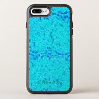 Mermaid Scale Neon Blue Vegan Leather OtterBox Symmetry iPhone 8 Plus/7 Plus Case