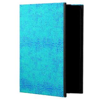 Mermaid Scale Neon Blue Vegan Leather Powis iPad Air 2 Case