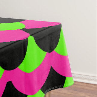 Mermaid scaled pattern- Hot pink/black/lime design Tablecloth