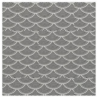 mermaid scales #2 Thunder_Cove black/white Fabric