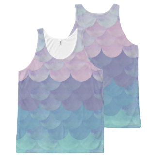 Mermaid Scales All-Over-Print Tank Top