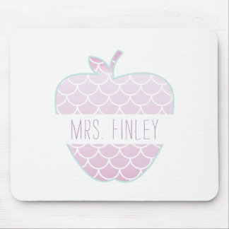 Mermaid Scales Apple Personalized Teacher Mouse Pad