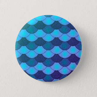Mermaid Scales - Blue Glow 2 Inch Round Button