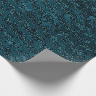 Mermaid Scales Glitter Monochrome Deep Teal Green Wrapping Paper
