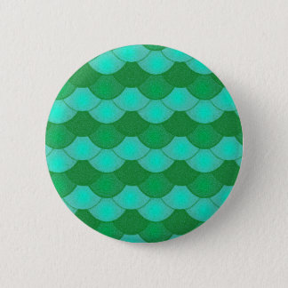 Mermaid Scales - Green 2 Inch Round Button
