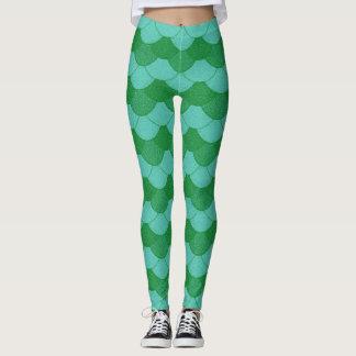 Mermaid Scales - Green Leggings