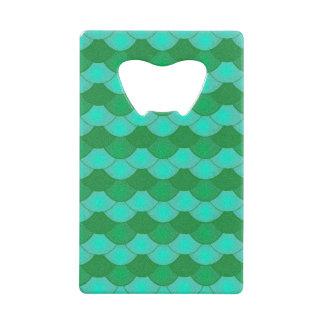 Mermaid Scales - Green Wallet Bottle Opener