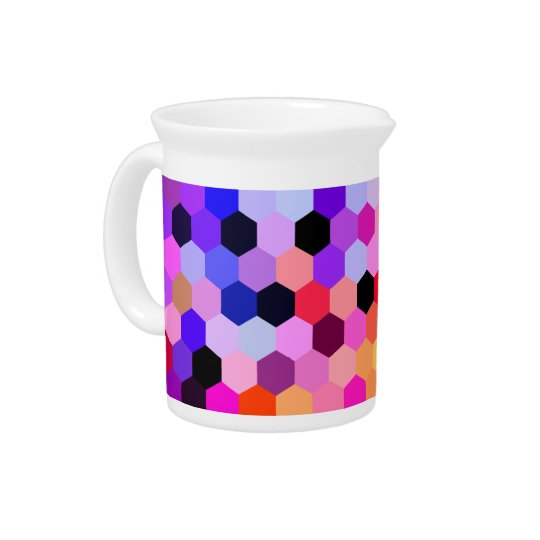 Mermaid Scales Lavender and Bittersweet Octagon Beverage Pitcher