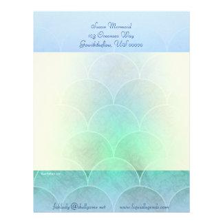 Mermaid Scales Light Blend Panel Letterhead