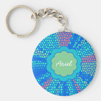 Mermaid Scales Monogram Keychain