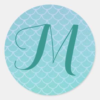 Mermaid Scales Monogram Sticker