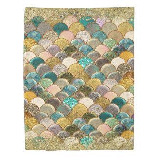 Mermaid Scales Multi Color Glitter Glam Trendy Duvet Cover