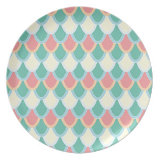 Mermaid scales party plate