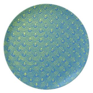 Mermaid scales plates