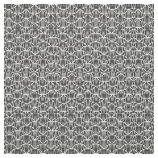 mermaid scales Thunder_Cove black/white Fabric