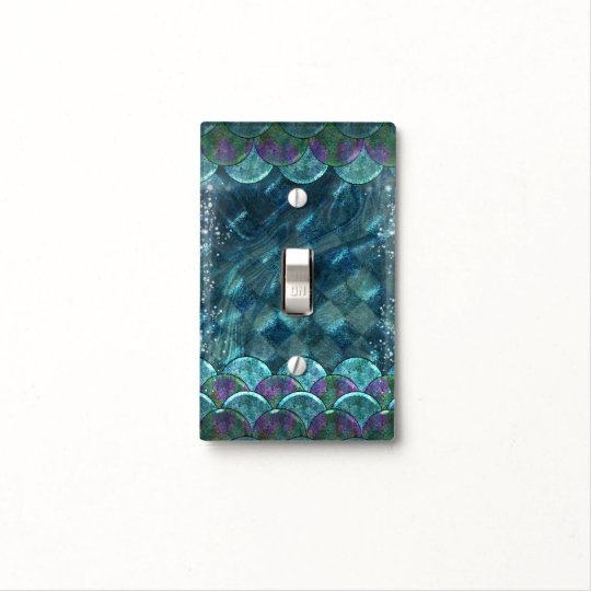 Mermaid Scales Under the Sea Enchanted Magical Light Switch Cover