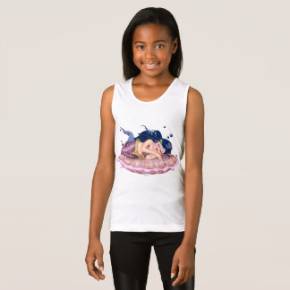 MERMAID SEA  CARTOON Girls' Fine Jersey Tank Top